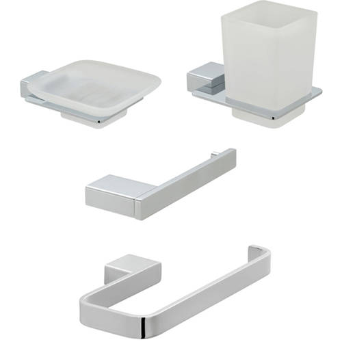 Additional image for Bathroom Accessories Pack A05 (Chrome).