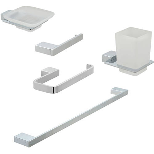 Additional image for Bathroom Accessories Pack A06 (Chrome).