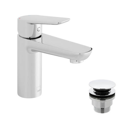 Additional image for Basin Mixer Tap With Universal Waste (Chrome).