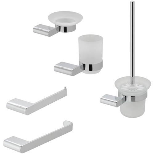 Additional image for Bathroom Accessories Pack A07 (Chrome).