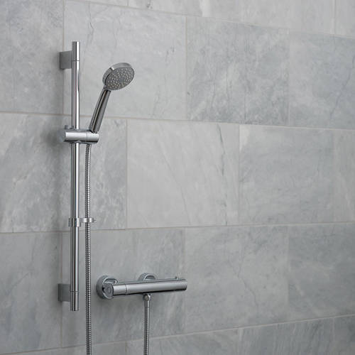 Additional image for Prima Thermostatic Shower Pack & Brackets (Chrome).