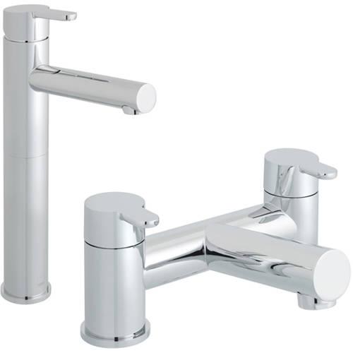 Additional image for Extended Basin & Bath Filler Taps Pack (Chrome).