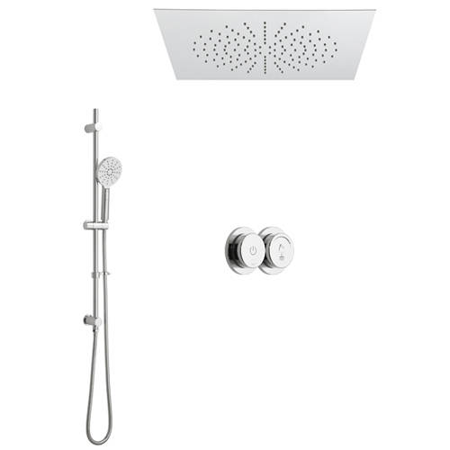 Additional image for SmartDial Thermostatic Shower & Square Head & Slide Rail Kit.