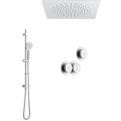 Additional image for SmartDial Thermostatic With Square Head, Slide Rail & Remote.