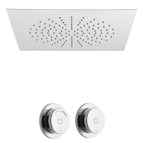 Additional image for SmartDial Thermostatic Shower With Square Head & Remote.
