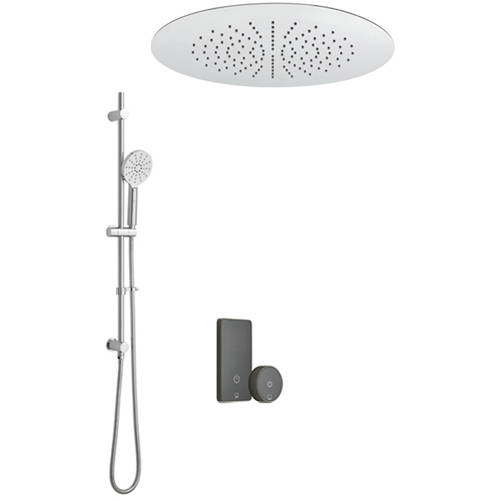 Additional image for SmartTouch Shower, Remote, Round Head & Slide Rail  (2-Way).