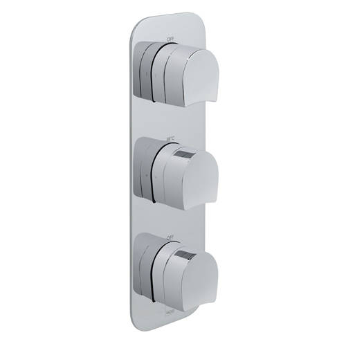 Additional image for Thermostatic Shower Valve With 2 Outlets (Chrome).