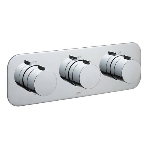 Additional image for Thermostatic Shower Valve With 3 Outlets & All Flow.