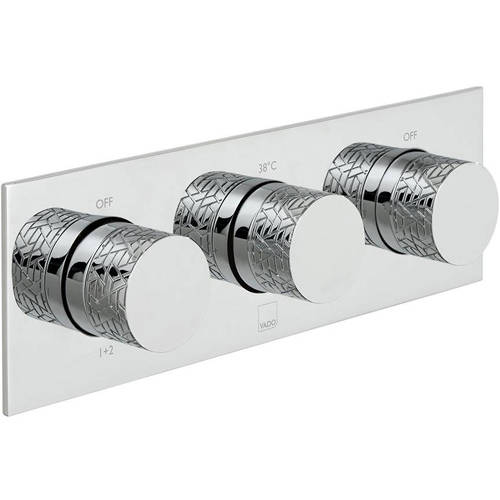 Additional image for Thermostatic Shower Valve With 3 Outlets & All Flow (Chrome).