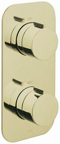 Additional image for 2 Outlet Thermostatic Shower Valve (Polished Gold).