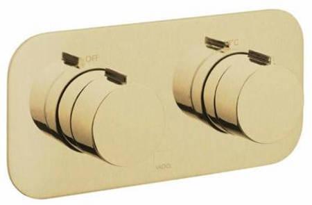 Additional image for 2 Outlet Thermostatic Shower Valve (Brushed Gold).