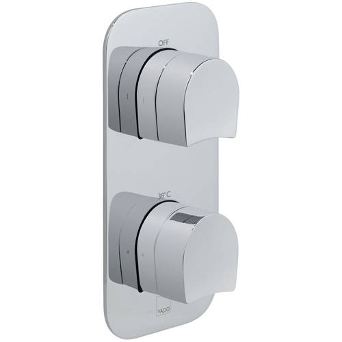 Additional image for Thermostatic Shower Valve With 1 Outlet (Chrome).