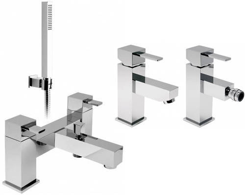 Additional image for Basin, Bidet & Bath Shower Mixer Taps Pack With Shower Kit.