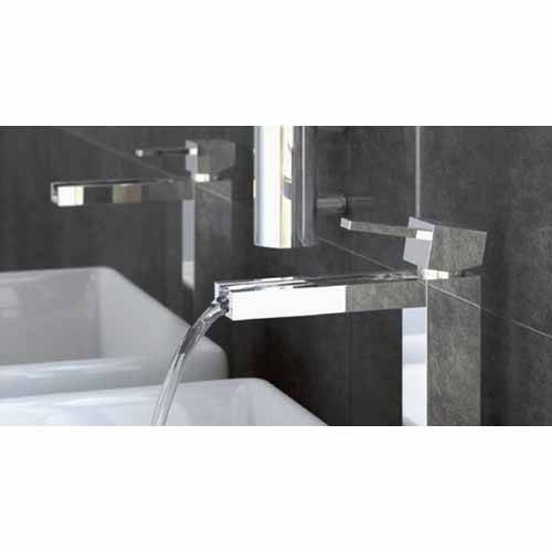 Additional image for Waterfall Mono Basin Mixer Tap (Chrome).