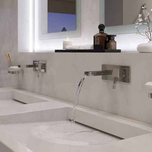Additional image for Wall Mounted Waterfall Basin Mixer Tap (Chrome).