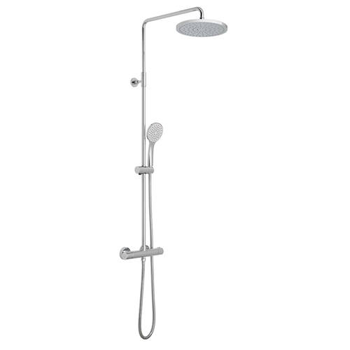 Additional image for Velo Round Shower Valve & Column Pack (Chrome).