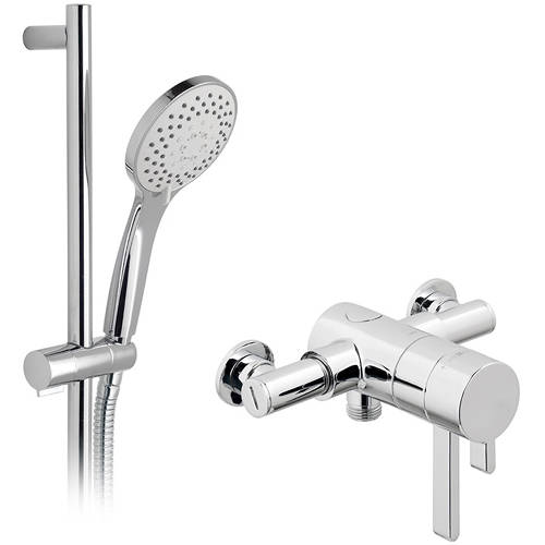 Additional image for Exposed Thermostatic Shower Valve & Rail Kit.