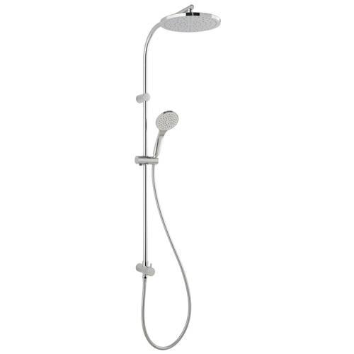 Additional image for Shower Kit With Outlet, Round Head, Handset, Hose & Diverter.