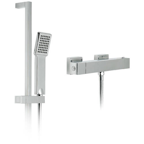 Additional image for TÉ Exposed Thermostatic Shower Pack (Chrome).