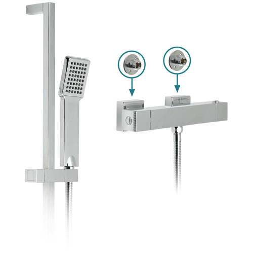 Additional image for TÉ Exposed Thermostatic Shower Pack & Brackets.