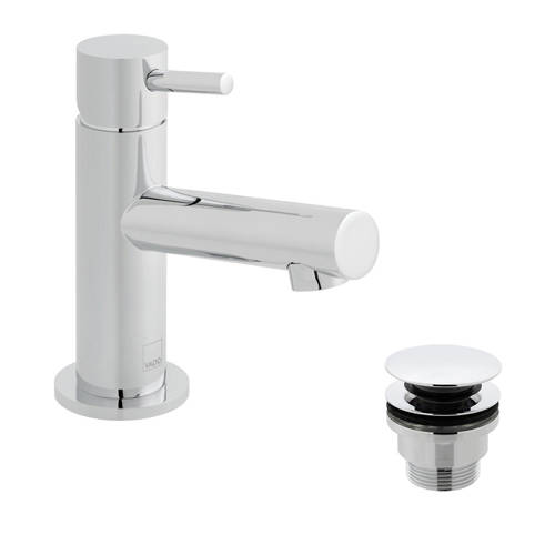 Additional image for Mini Mono Basin Mixer Tap With Universal Waste (Chrome).