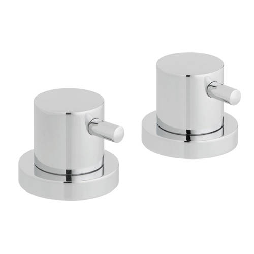 """Additional image for 2 x Deck Mounted Stop Valves 3/4""""  (Chrome)."""