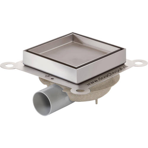 Additional image for Shower Tile Drain 146x146mm (ABS, Stainless Steel Frame).