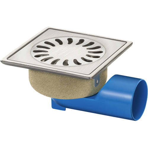 Additional image for Shower Drain 126x126mm (Stainless Steel).