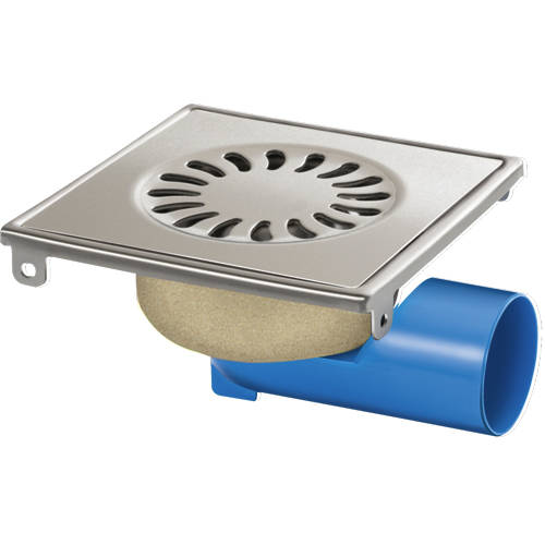 Additional image for Shower Drain 146x146mm (Brushed Stainless Steel).