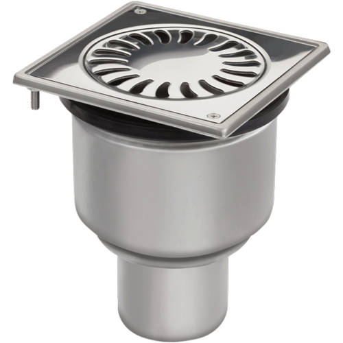Additional image for Shower Drain 150x150mm (Stainless Steel).