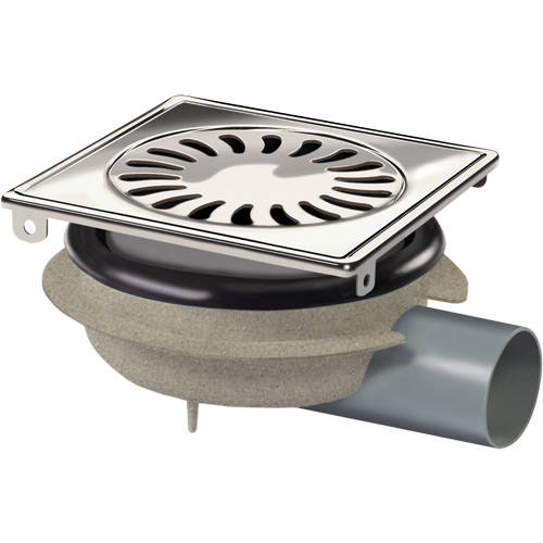 Additional image for ABS Shower Drain 150x150mm (Stainless Steel Grate).