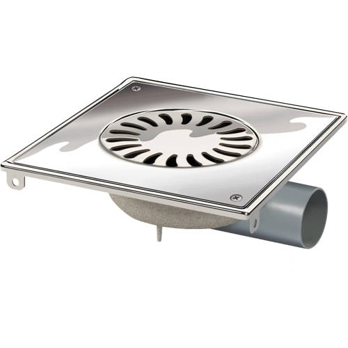 Additional image for ABS Shower Drain 200x200mm (Screw Down Grate).