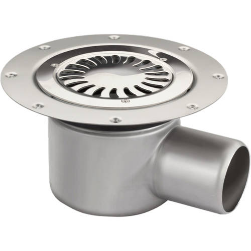 Additional image for Shower Drain With 75mm Horizontal Outlet (250mm, S Steel).