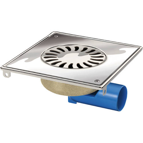 Additional image for Steel Shower Drain 200x200mm (Screw Down Grate).