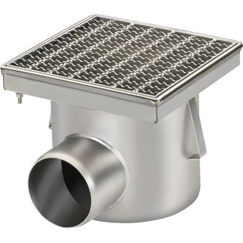 Additional image for Drain With 110mm Horizontal Out 250x250mm (Mesh).