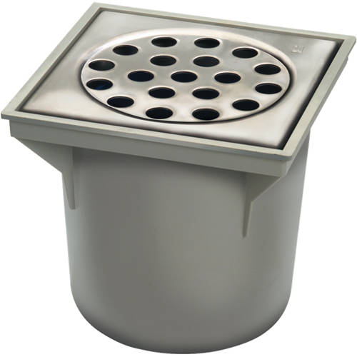 Additional image for ABS Drain 200x200mm (Stainless Steel Grate).