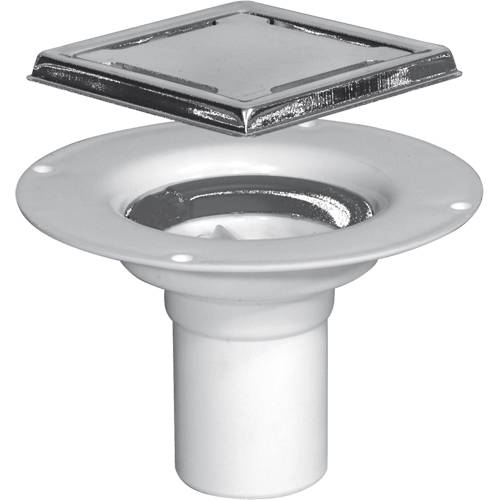 Additional image for Poly Shower Drain With Clamping Ring 94x94mm.