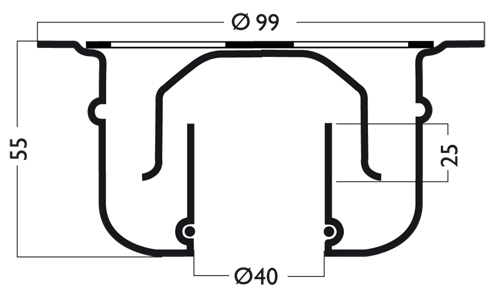 Additional image for Round Shower Drain 100mm (Stainless Steel).