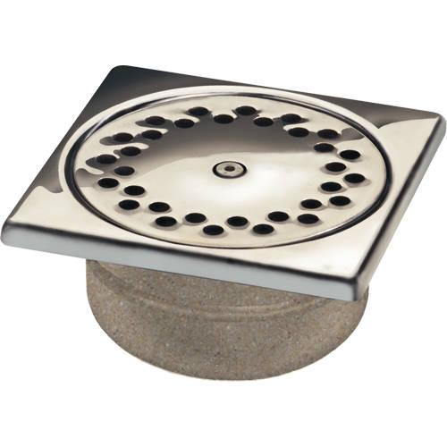 Additional image for Anti Vandal Shower Drain 150x150mm (S Steel).