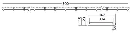 Additional image for Connect Channel Slot Grating Part 500x162mm.