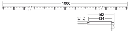 Additional image for Connect Channel Slot Grating Part 1000x162mm.