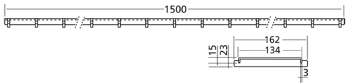 Additional image for Connect Channel Slot Grating Part 1500x162mm.