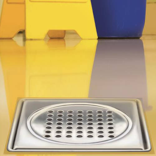 Additional image for ABS Drain 200x200mm (Brushed Stainless Steel Grate).