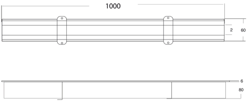 Additional image for Kitchen Slot Drain Part 1000x60mm (Connectable).