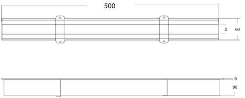 Additional image for Kitchen Slot Drain Part 500x60mm (Connectable).