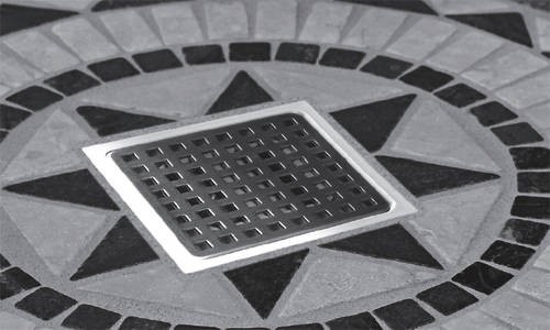 Additional image for ABS Plastic Shower Drain 100x100mm (Steel Grate).