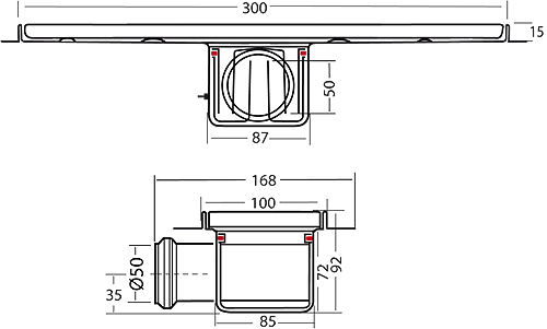 Additional image for Standard Shower Channel 300x100mm (S Steel).