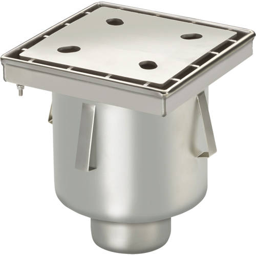 Additional image for Screw Down Drain With Vertical Outlet 250x250mm.
