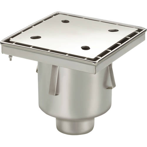 Additional image for Screw Down Drain With Vertical Outlet 300x300mm.
