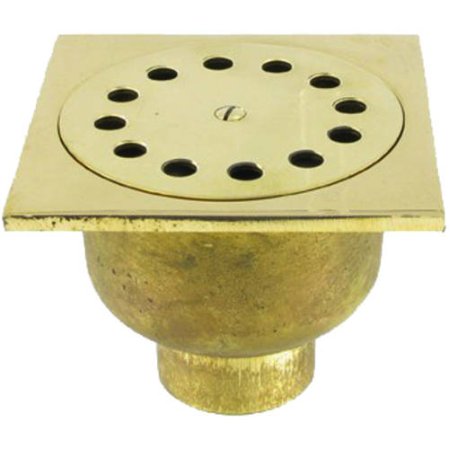 Additional image for Shower Drain 100x100mm (Polished Brass).